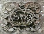 Pax limestone carving