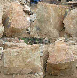 Woodkirk stone in the yard