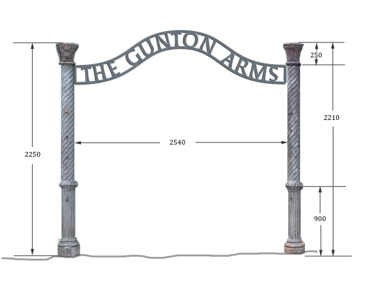 inner sign proposal in cast iron